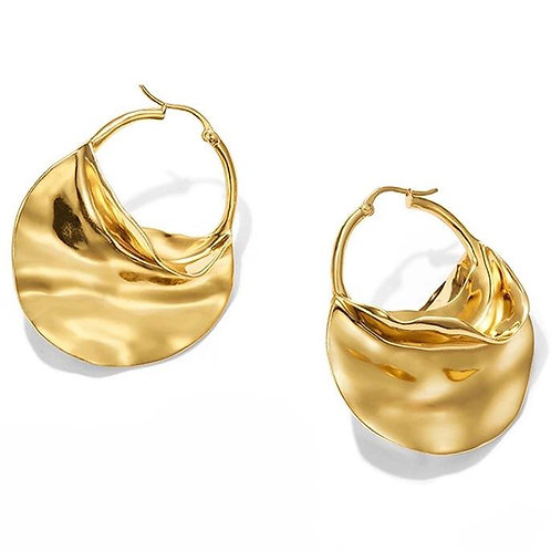 Shenia  14k Hoop Earrings