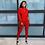 Thumbnail: Fall Fashion Classic Solid Women's Set 2 Two Piece Set Women Jogger Pants Suit