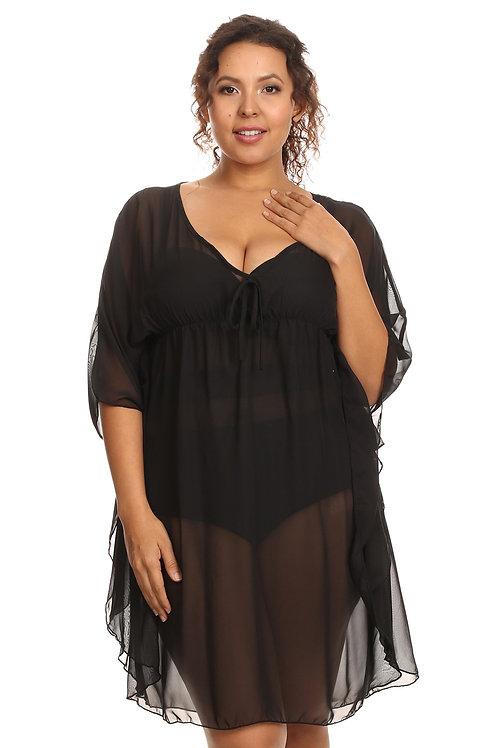 Women's Plus Size Chiffon Beach Dress Swimwear Cover-Up