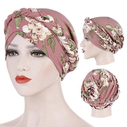 Trendy Cotton Print Muslim Turban Scarf for Women