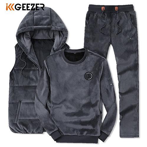 Men Sweatshirt Suit SweatPants Mens Winter Vests