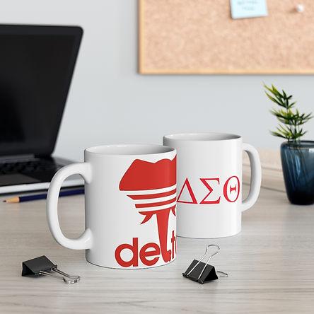 Delta Sigma Theta Ceramic Mug 11oz