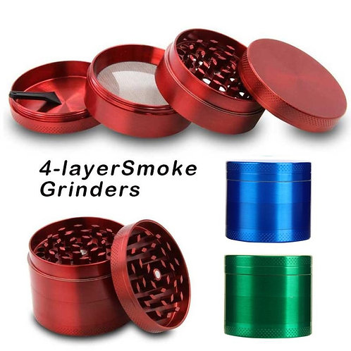 NEW Weed Accessories 4-Layer Aluminum Herbal Herb Tobacco Grinder