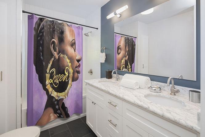 Black Queen Shower Curtains