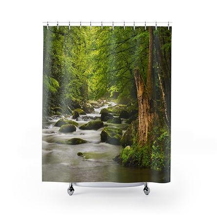 Mountain Stream Shower Curtains