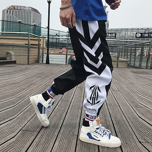 Streetwear Hip Hop Joggers Pants Men Loose Harem Pants