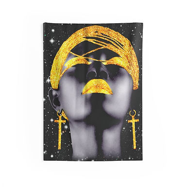 Black Goddess Wall Tapestries