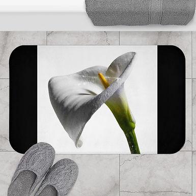 White Lily Bath Mat