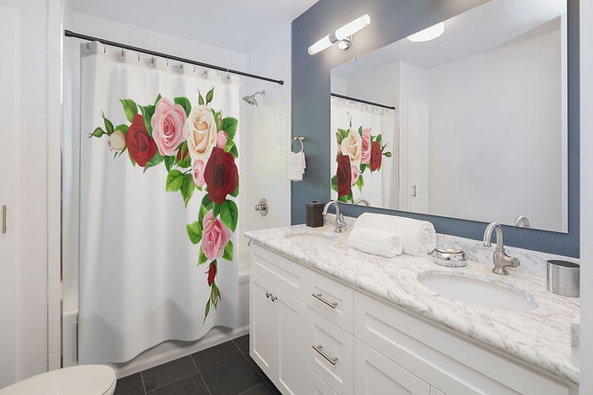 Rose Buds Shower Curtains