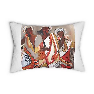 African Maidens Lumbar Pillow