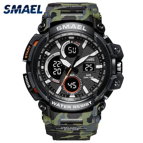 SMAEL Sport Watches Waterproof Men Watch LED Digital Watch Military
