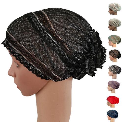 Hijab Underscarf Turban Lace Inner Cap Hat Headwear