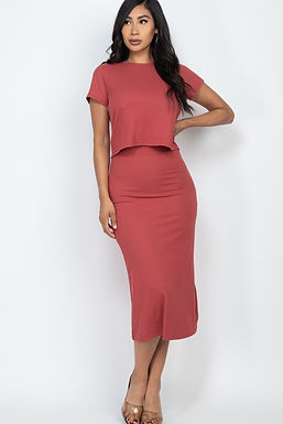 Basic & Simple Chic Skirt Set