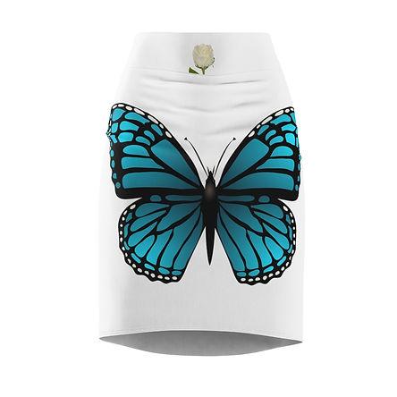 Blue Butterfly Skirt