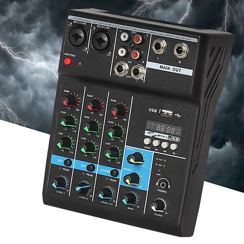 Professional Audio Mixer 4 Channels Bluetooth Sound Mixing Console
