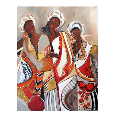 African Maiden Duvet Cover