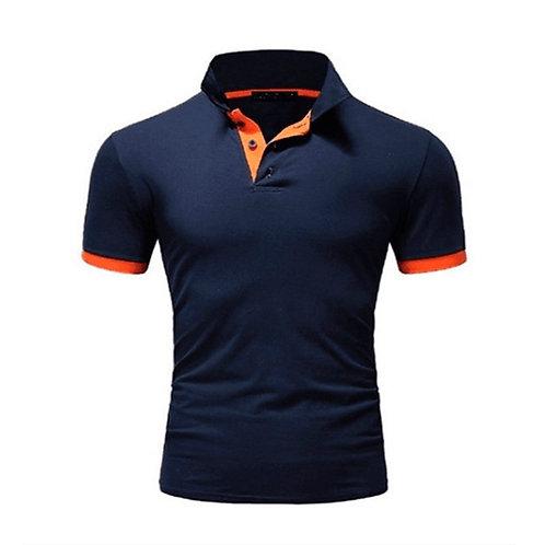 Summer Short Sleeve Polo Shirt Men Turn-Over Collar Fashion