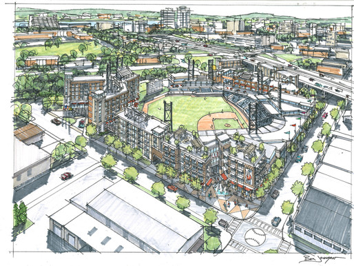 Smokies owner Randy Boyd releases renderings for stadium in downtown Knoxville