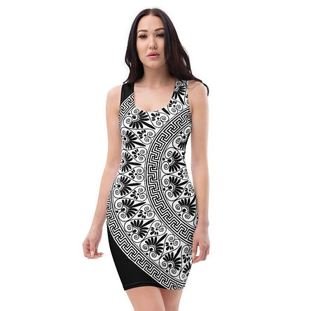 Black And White Boho Style Racerback Dress
