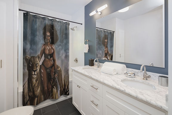 Jungle Queen Shower Curtains