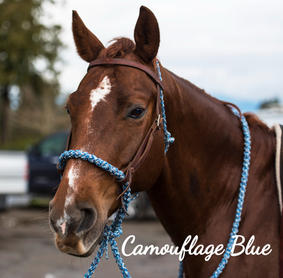 Camouflage Blue with weaver headstall