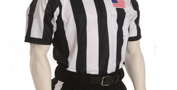 "Football Referee 2 1/4"" Short Sleve Shirt W/ Sublimated USA Flag"
