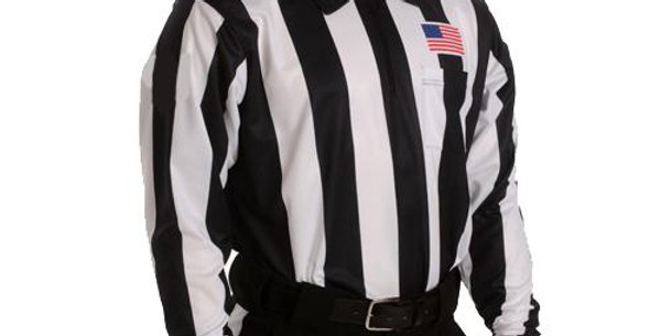 "Football Referee 2 1/4"" Long Sleve Shirt W/ Sublimated USA Flag"