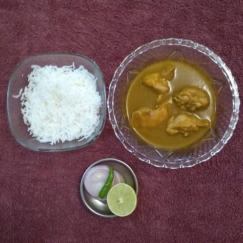 Mangalorean Green Chicken Curry with Rice