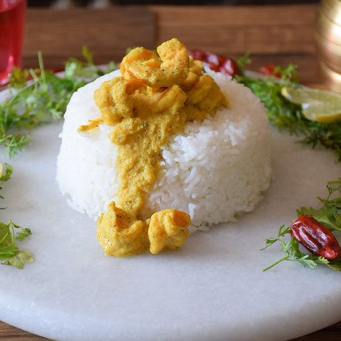 Goan Prawns Curry with Chapatis or Rice