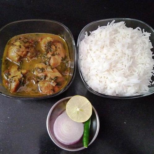 Punjabi Methi Chicken Curry with Rice
