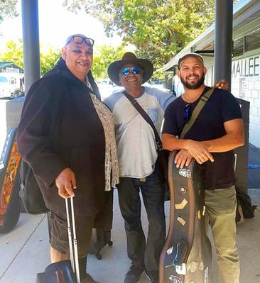 Kutcha Edwards, Warren H Williams David Spry at National Folk Festival