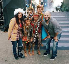 David Spry & Shellie Morris in Taoyuan International Indigenous Music Festival Taiwan