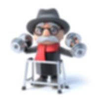 Mann med rullator og vekter.jpg