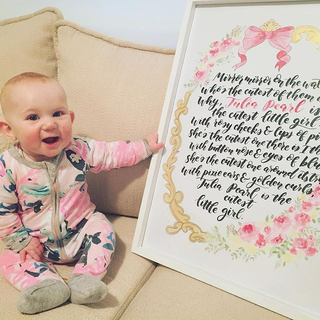 Here's Julia in her pjs waking up to her exciting present! 😍This beautiful poem, written by dad and