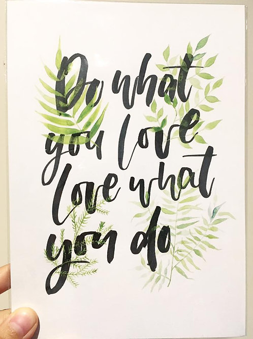 Do what you love Green Print