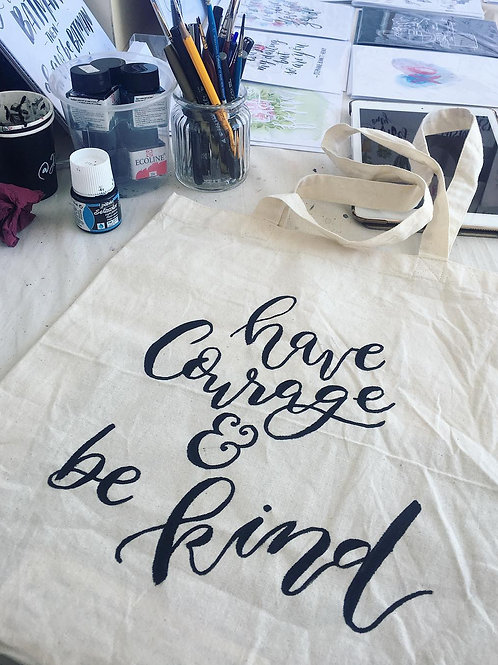 Hand-painted Tote Bag