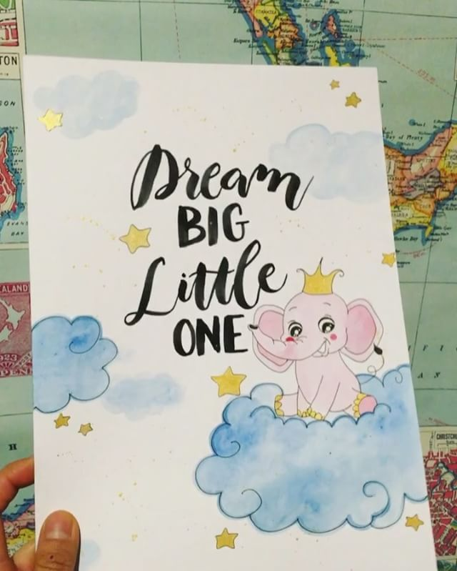 Woohoo this custom baby print has landed safely in OZ! 🐘😍💝 #dreambiglittleone #babyprint #cute #e