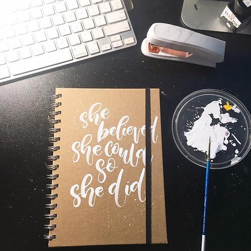 Custom Kraft Notebooks