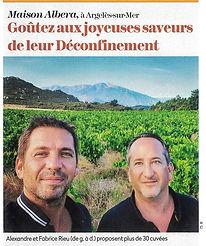 Photo de l'article de presse de la Revue du Vin de France