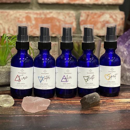 Set of 5 Elemental Aura Sprays | Reiki + Crystal Infused