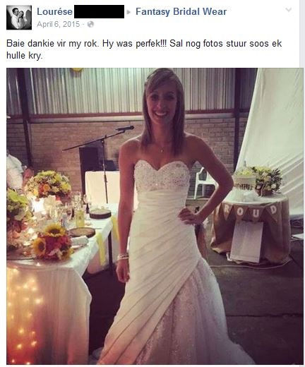 Fantasy Bridal Wear Testimonails