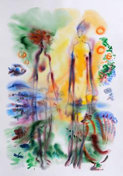 Garden_of_Eden_1_Watercolor_36x51