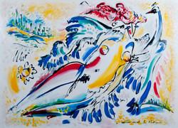 Leda and the Swan by Leonid I Vidrak
