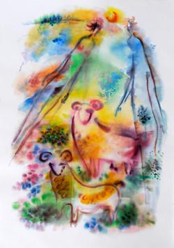 Garden_of_Eden_4_Watercolor_36x51