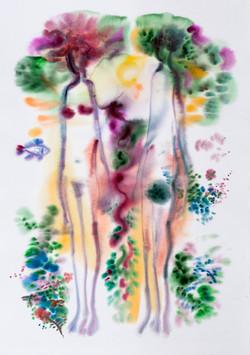 Garden_of_Eden_5_Watercolor_36x51
