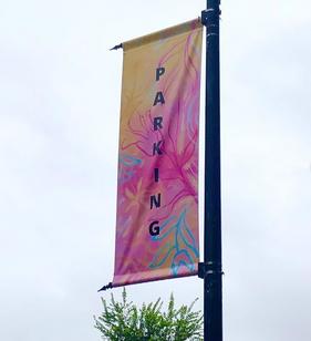 Parking Banner at North Hills