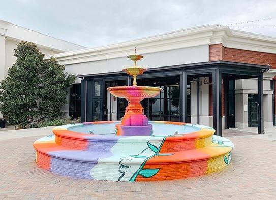 Fountain Mural - North Hills, Raleigh, N
