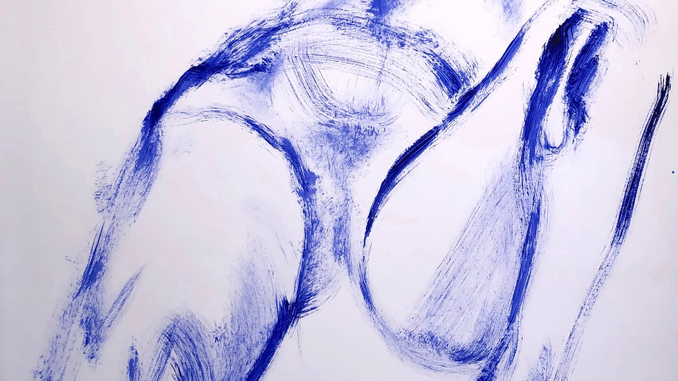 Reclining Nude in Blue 004