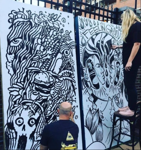 Ink Wars Live Drawing Competition   Hopscotch Festival 2017   Raleigh, NC