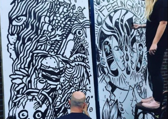 Ink Wars Live Drawing Competition | Hopscotch Festival 2017 | Raleigh, NC